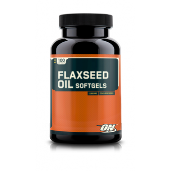 Optimum Nutrition- Flaxseed oil, 100caps._main_image