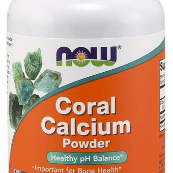 now foods- coral calcium powder, 1000 mg, 170 g_main_image